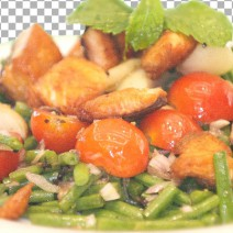 salad-french-beans-salmon
