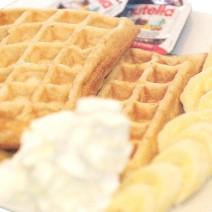 waffles banana whipped creme